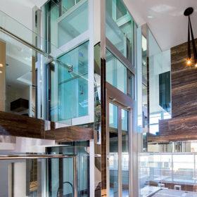 лифт панорамный с авт. распашными дверями